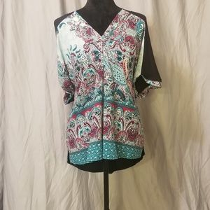 Teal Paisley Dress Top